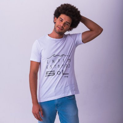 Camiseta Estamos Sol Branca Carito
