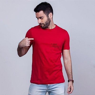 Camiseta + Amor Vermelha