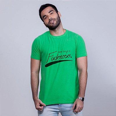 Camiseta Estonada Beijo Fuderoso Verde