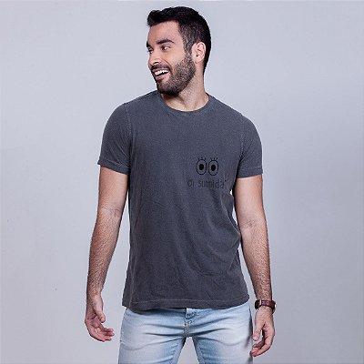 Camiseta Estonada Oi Sumida Chumbo