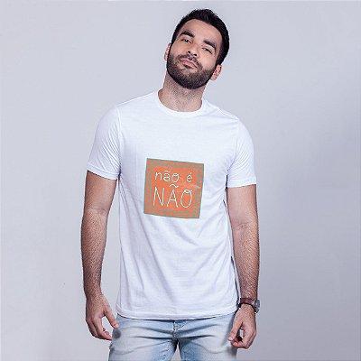 Camiseta Não é Não Branca