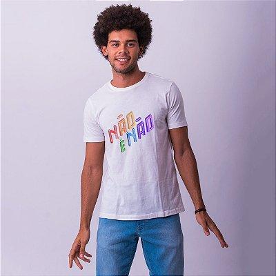 Camiseta Não é Não Branca Amandrafts