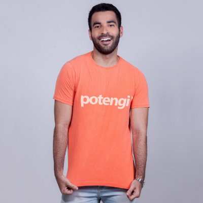 Camiseta Estonada Potengi Laranja