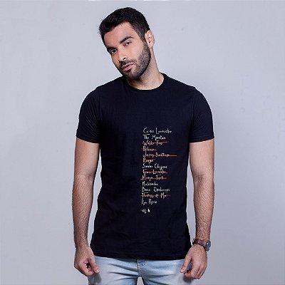 Camiseta Checklist Arya Preta