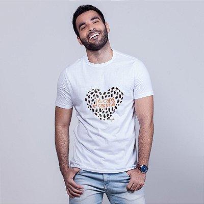 Camiseta Fé, Café e Cafuné Branca