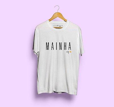 Camiseta Mainha Sem Etiqueta Branca