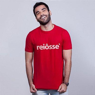 Camiseta Reiôsse Vermelha com Branco