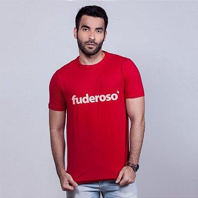 Camiseta Fuderoso Vermelha com Branco
