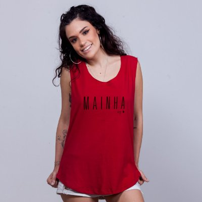 Regatão Mainha Sem Etiqueta Vermelho