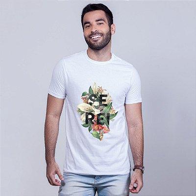 Camiseta Se Réi Floral Branca Amandrafts