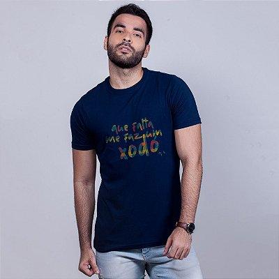 Camiseta Que Falta me Faz um Xodó Azul Marinho