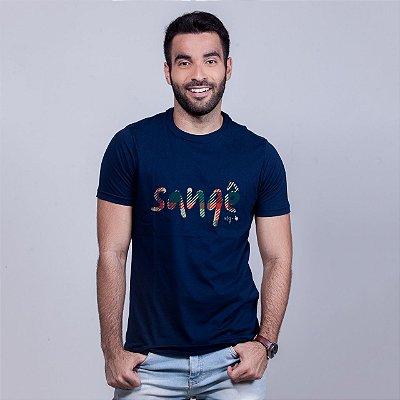 Camiseta Sangê Azul Marinho