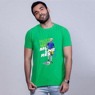 Camiseta Estonada Torça pelas Muheres Umazarte Verde
