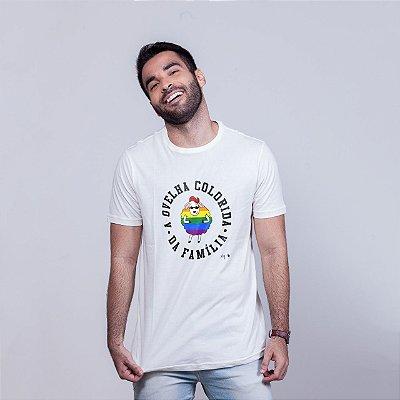 Camiseta Ovelha Colorida Branca Amandrafts