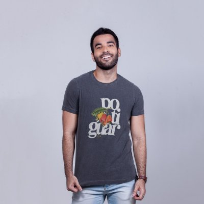 Camiseta Estonada Potiguar Chumbo