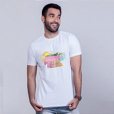 Camiseta Ponta Negra Branca RAFFE