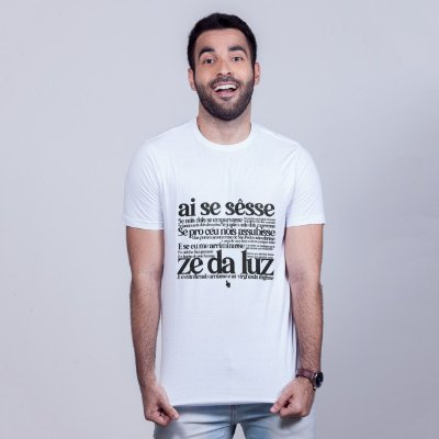 Camiseta Zé da Luz Branca