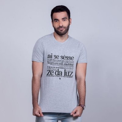 Camiseta Zé da Luz Mescla