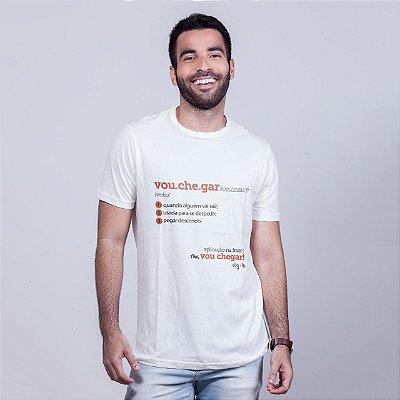 Camiseta Vou Chegar Dicionário Branca