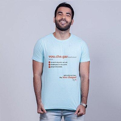 Camiseta Estonada Vou Chegar Dicionário Azul