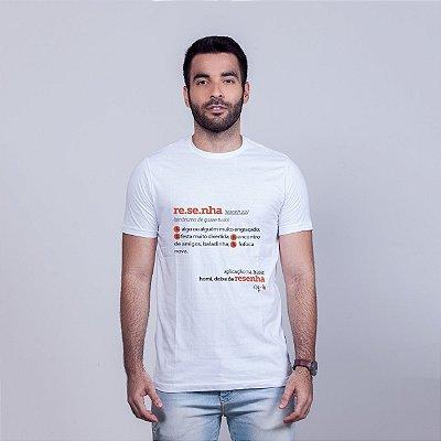 Camiseta Resenha Dicionário Branca