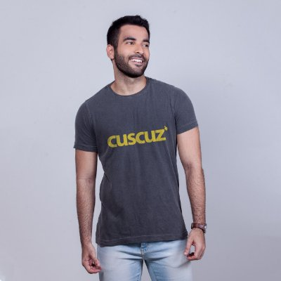 Camiseta Estonada Cuscuz Chumbo