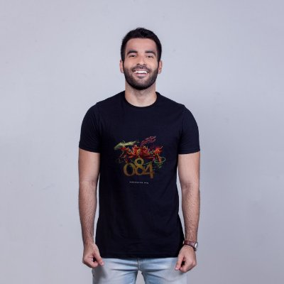 Camiseta 084 Preta RAFFE
