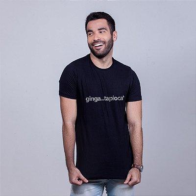 Camiseta Ginga com Tapioca Preta