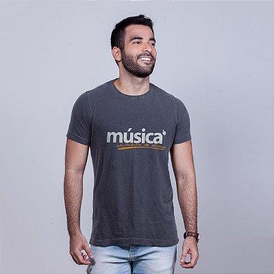 Camiseta Estonada Música Alma Chumbo
