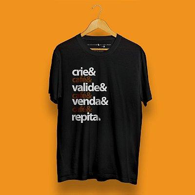 Camiseta Checklist Café Empreendedor Preta Forum Negócio