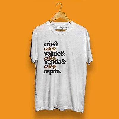 Camiseta Checklist Café Empreendedor Branca Fórum Negócios