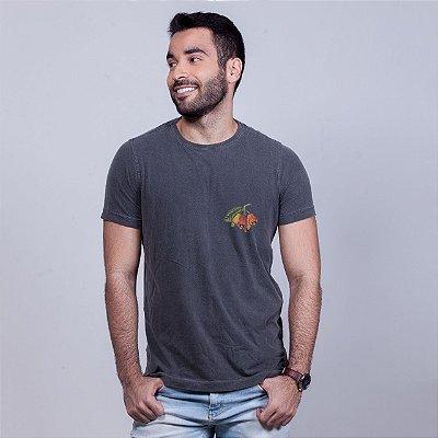 Camiseta Estonada Caju Minimal Chumbo