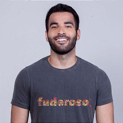 Camiseta Estonada Fuderoso Color Linha Chumbo