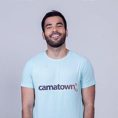 Camiseta Estonada Carnatown Azul  Batendo Perna