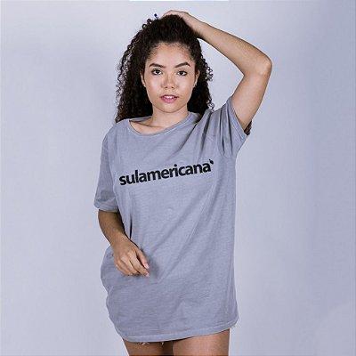 Camiseta Estonada Sulamericana Cinza