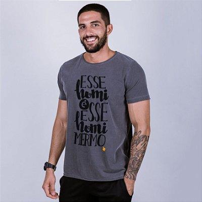 Camiseta A Fio Estonada Esse Homi é esse Homi mesmo Chumbo
