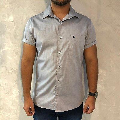 Camisa de Botão Cinza Sem Etiqueta