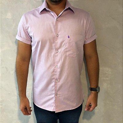 Camisa de Botão Lilás Sem Etiqueta