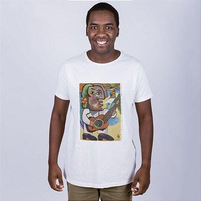 Camiseta  Flávio  Freitas Samba Off White
