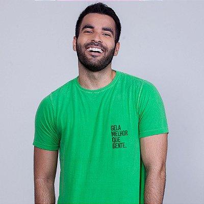 Camiseta Gela melhor que gente Verde