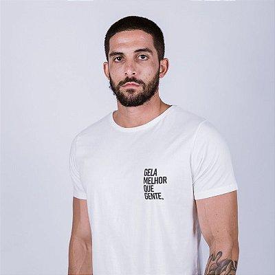 Camiseta Gela melhor que gente Off White