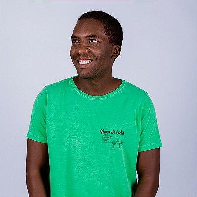 Camiseta Estonada  Figurinha Show de Bola Verde