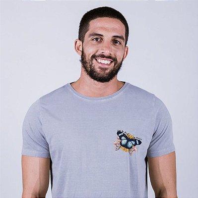 Camiseta Estonada Vai se fuder meu Anjo Cinza