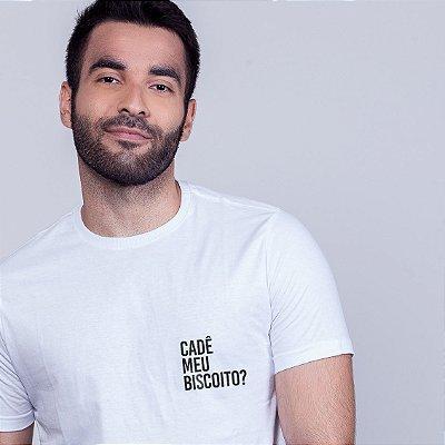 Camiseta Cadê meu biscoito ? Branca