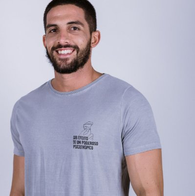 Camiseta Estonada Psicotrópico Cinza