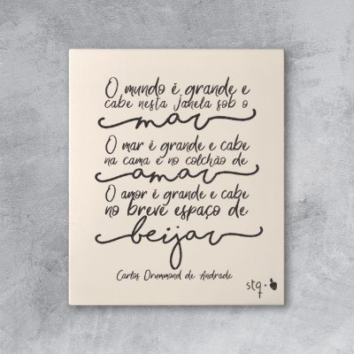 Quadro Carlos Drummond
