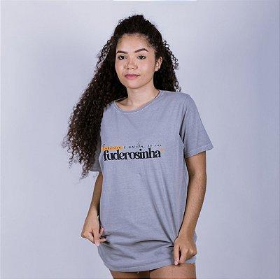 Camiseta Fuderosinha Cinza Estonada