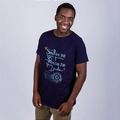 Camiseta Leminski Azul Marinho