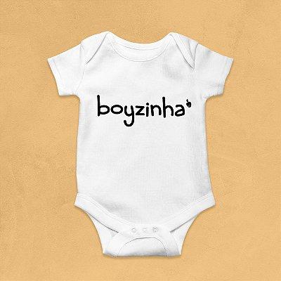 Body Infantil Boyzinha Branco