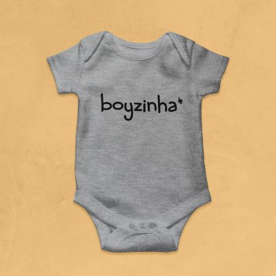 Body Infantil Boyzinha Mescla